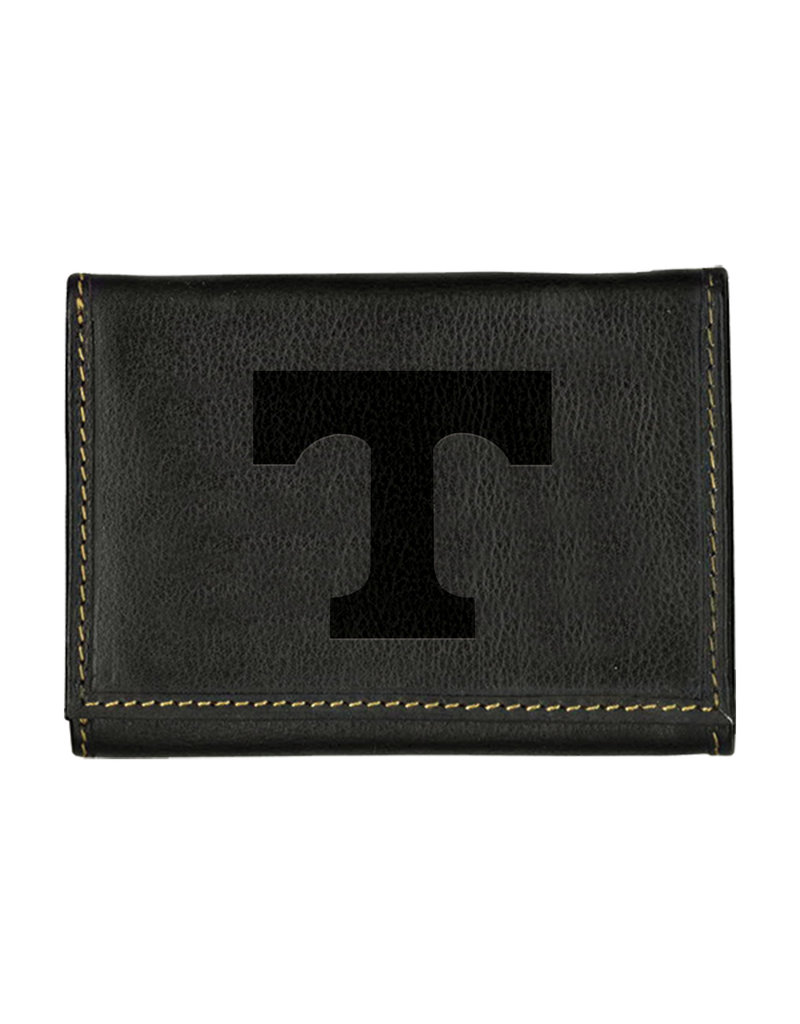 Carolina Sewn Trifold Wallet Embossed Power T- Black
