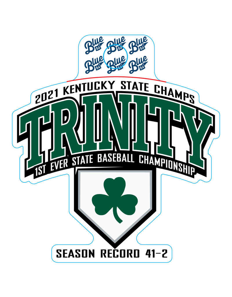 Blue 84 2021 State Champs Baseball Sticker
