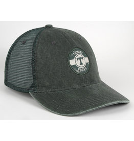 AHEAD Ahead Green Washed Canvas Mesh Snap Back Hat