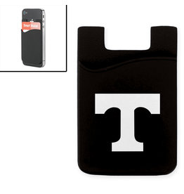 MCM Cell Phone ID Holder Black with White Power T