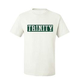 Freedom White Cotton Tee Trinity Distress Block