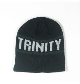 League Knit Black Beanie with Trinity
