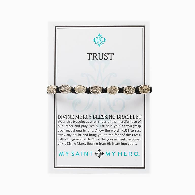 My Saint My Hero Trust  Divine Mercy Bracelet