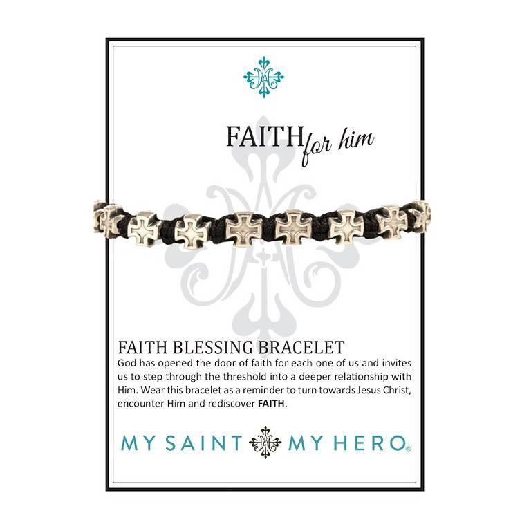 My Saint My Hero Faith For Him Bracelet