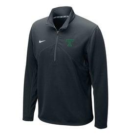 Nike Nike Dri-Fit 1/4 Zip Black with Green T New