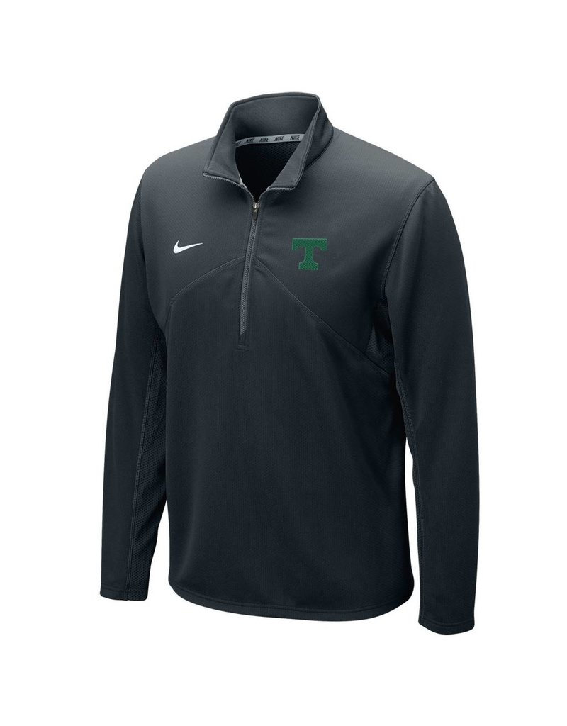 Nike Nike Dri-Fit 1/4 Zip Black with Green T New