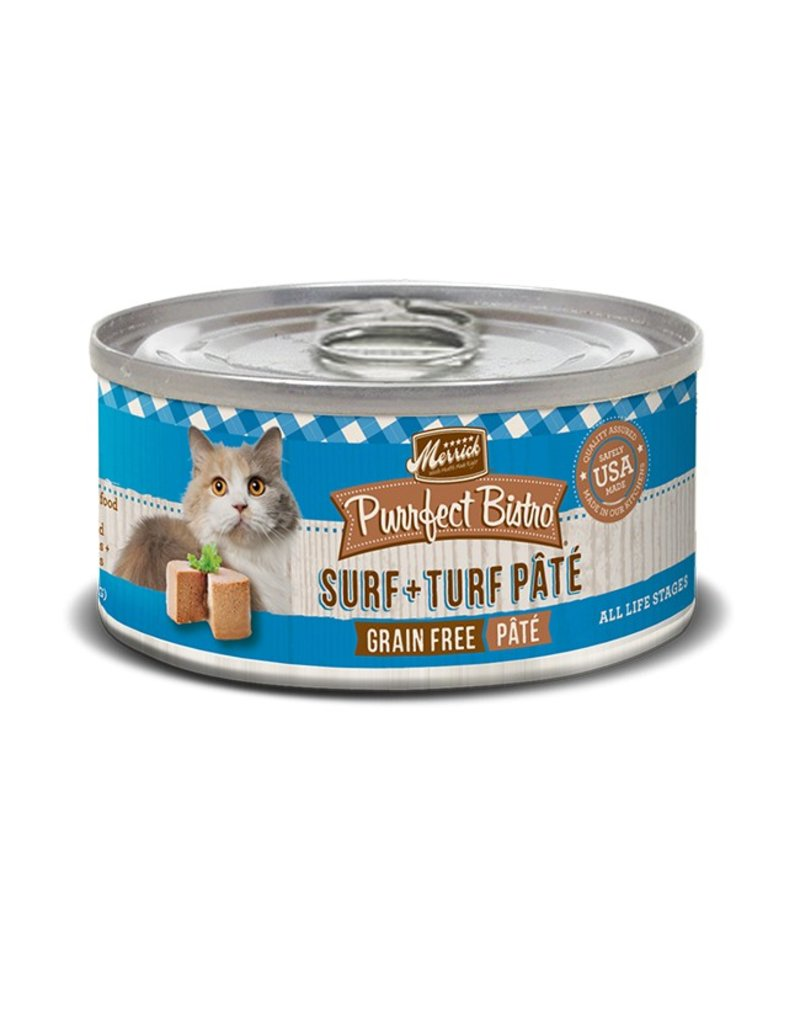 Merrick Canned Cat Surf & Turf Pate 3 OZ