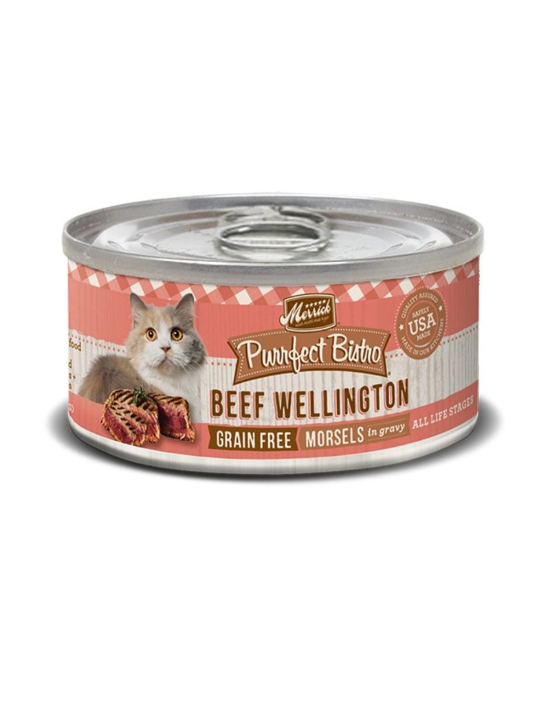 Merrick Canned Cat Beef Wellington Morsels 5.5 OZ
