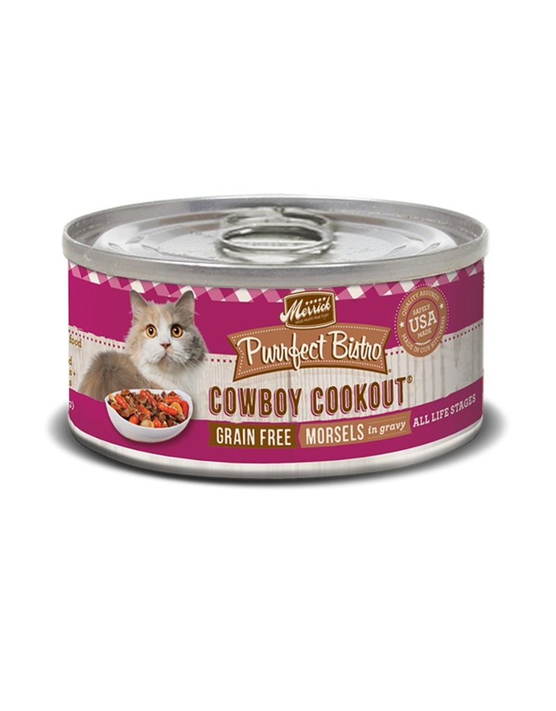 Merrick Canned Cat Cowboy Cookout Morsels 5.5 OZ