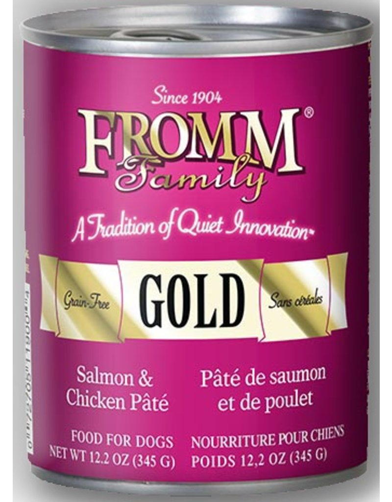 Fromm Gold Canned Dog Salmon & Chicken Pate 13 OZ