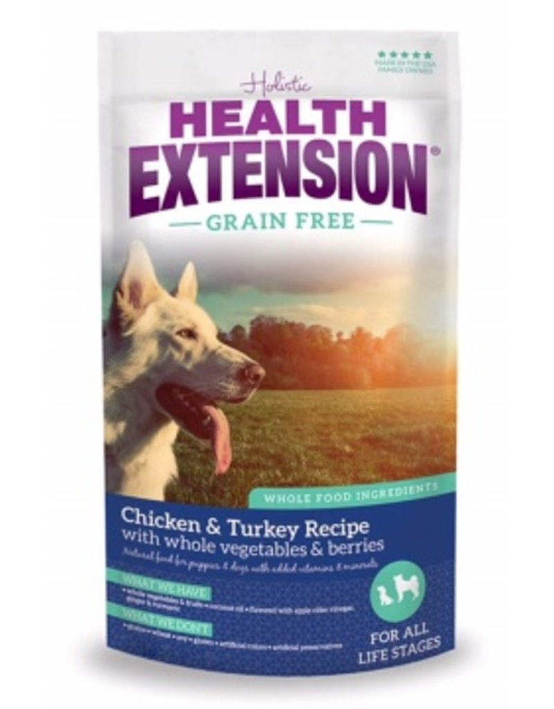 Health Extension Dry Dog Grain Free Chicken & Turkey 4 Lb