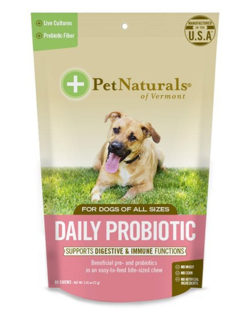 Pet Naturals of Vermont - Daily Digestion Probiotic Dog 60 ct