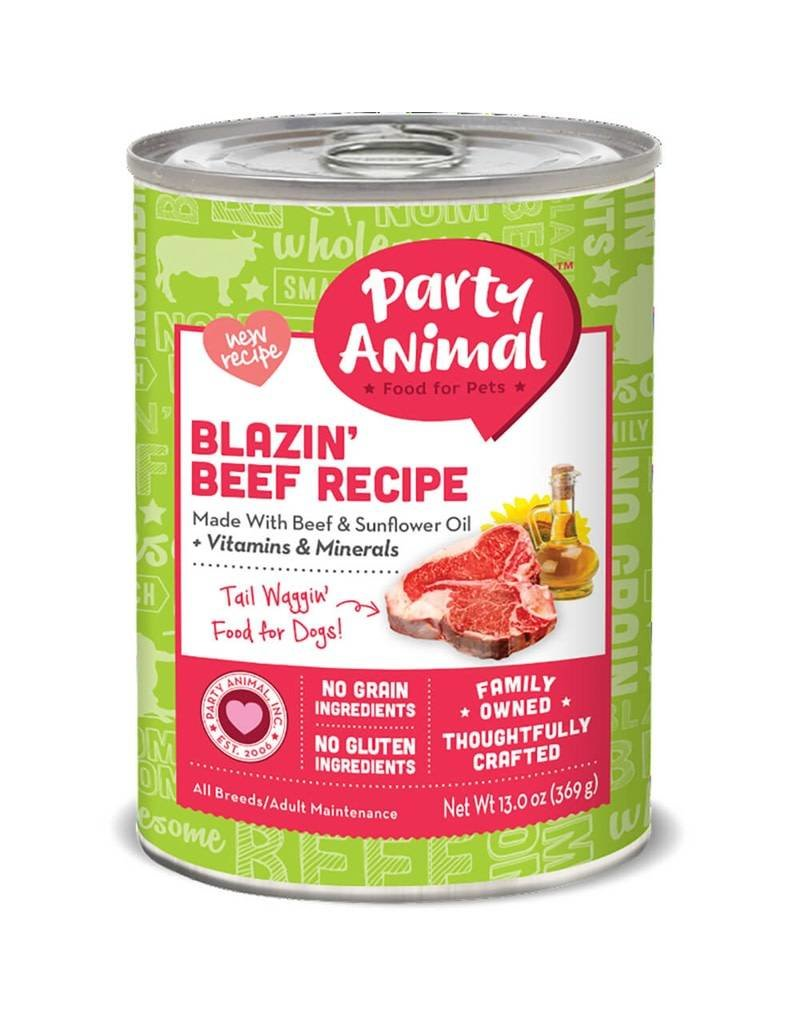 Party Animal Organic Canned Dog Blazin' Beef 13 OZ