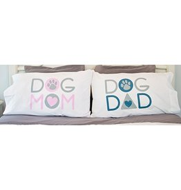 Dog Speak Mom Dad Pillow Case