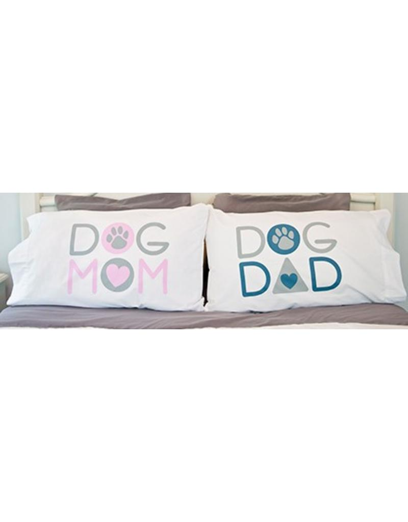 Dog Speak Mom Dad Pillow Case