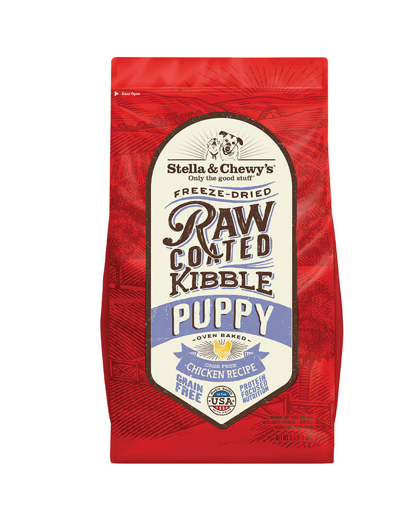 STELLA AND CHEWYS Dry Dog Raw Coated Puppy Chicken 3.5 LB