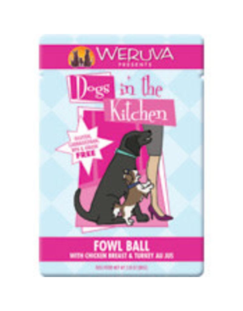 Weruva Canned Dog Pouch Fowl Ball 2.8 OZ