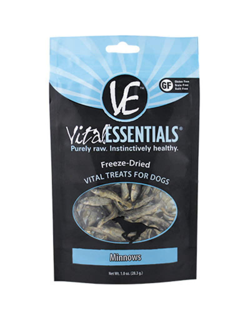 Vital Essentials Freeze-Dried Dog Treats Minnows 1 Oz