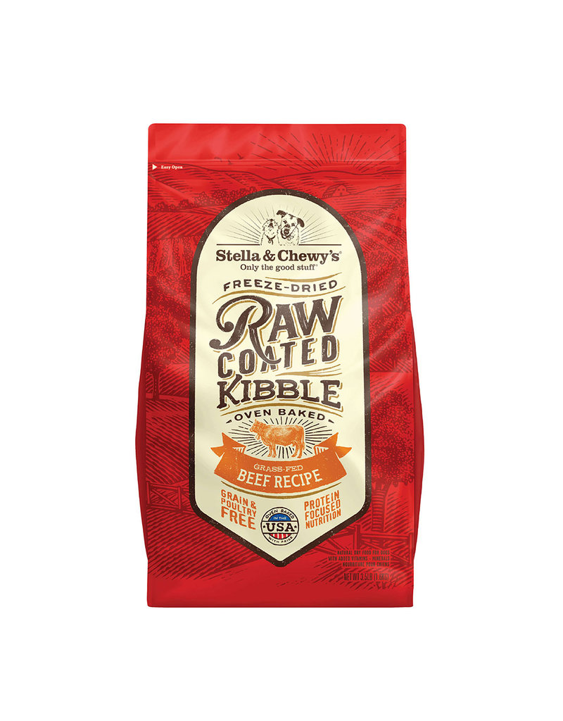 Stella & Chewy's Dry Raw Coated Beef Recipe Dog 22lb