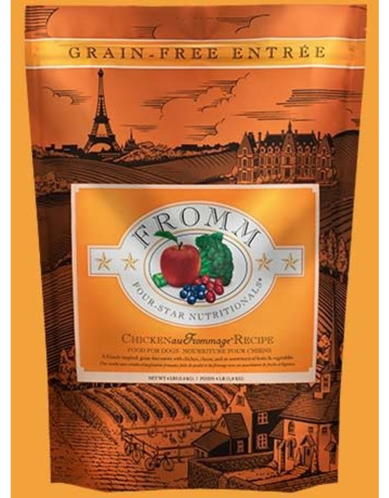 Fromm Family Pet Food Fromm Four Star Dry Dog Grain Free Chicken au Frommage 4 Lb