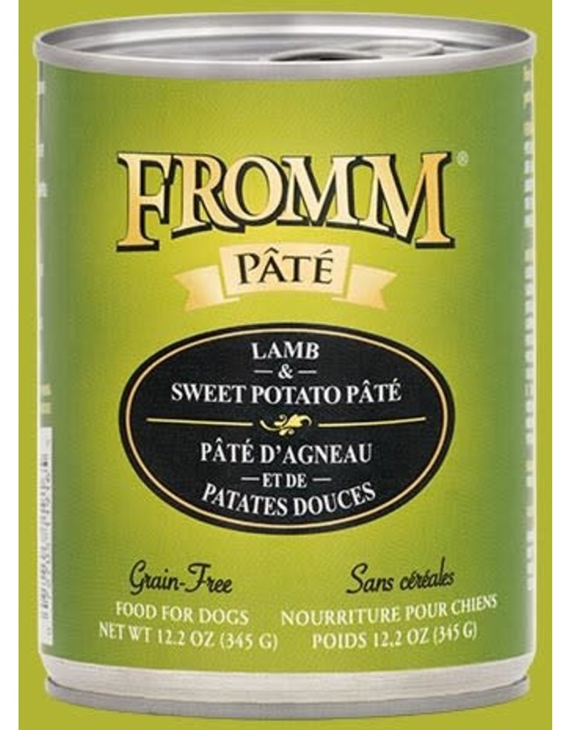 Fromm Family Pet Food Fromm Canned Dog Pate Lamb & Sweet Potato 12.2 OZ