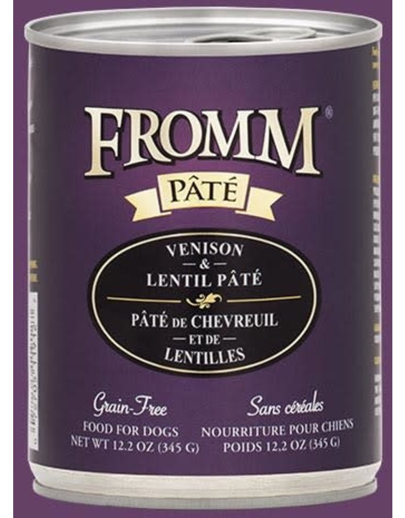Fromm Family Pet Food Fromm Canned Dog Pate Venison & Lentil 12.2 OZ
