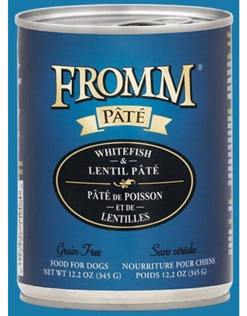 Fromm Family Pet Food Fromm Canned Dog Pate Whitefish & Lentil 12.2 OZ