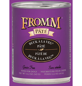 Fromm Family Pet Food Fromm Canned Dog Pate Duck A La Veg 12.2 OZ