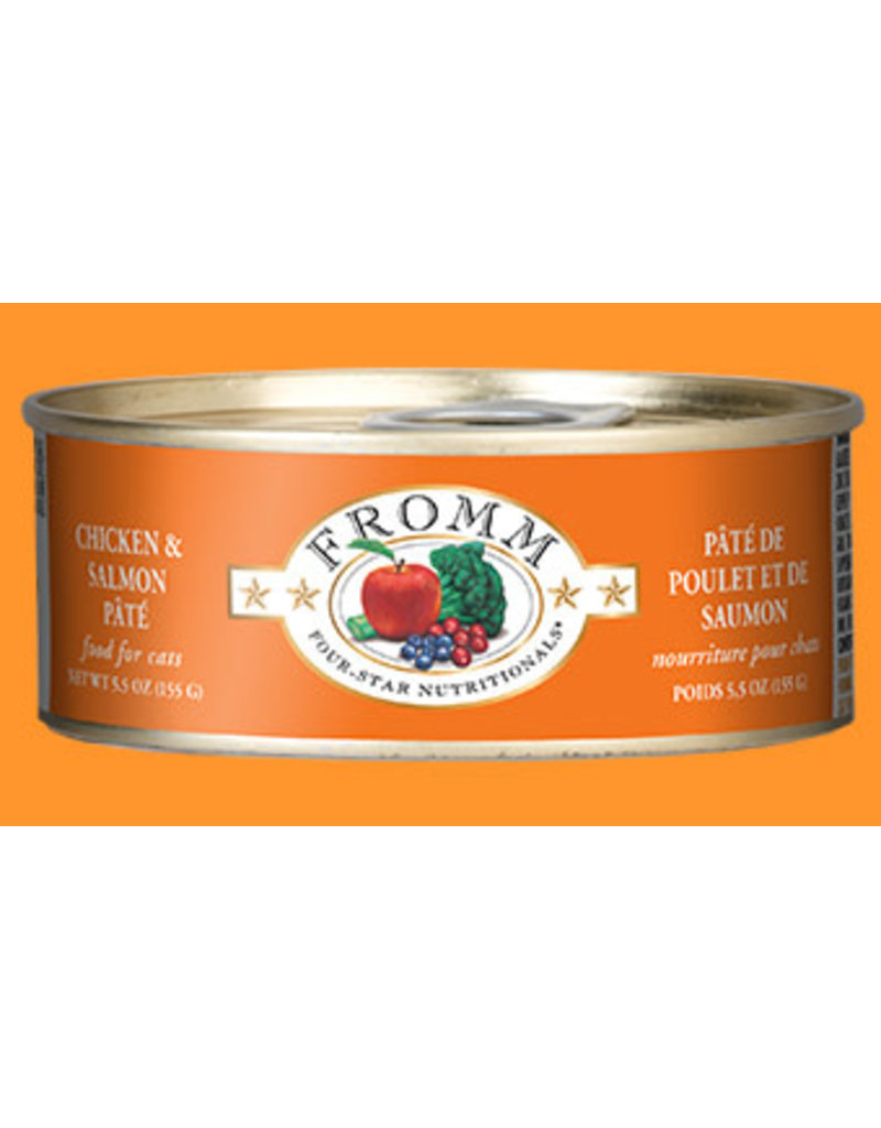 Fromm Four Star Canned Cat Chicken / Salmon 5.5 OZ