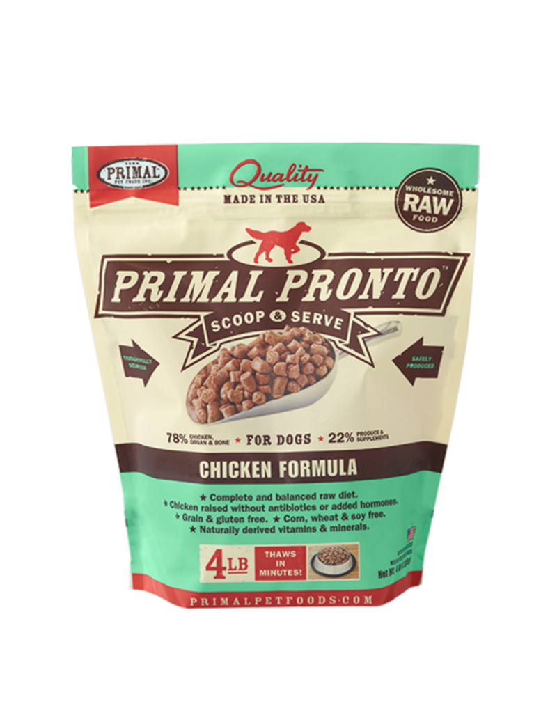 Primal Frozen Raw Dog Pronto Chicken 4 lb