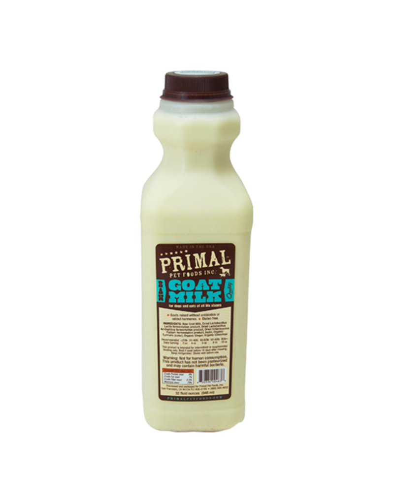 Primal Frozen Raw Goat Milk Dog & Cat 32. Oz