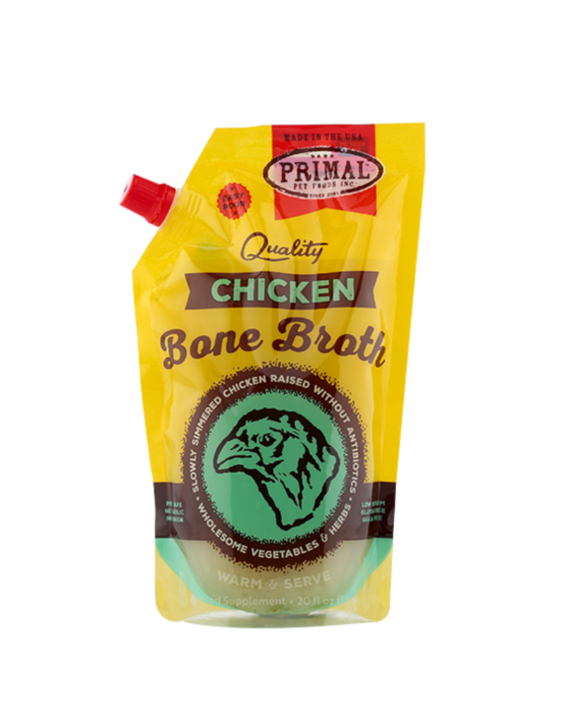 Primal Dog Frozen Chicken Bone Broth 20 Oz