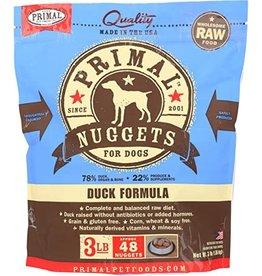 Primal Frozen Raw Dog Duck Nuggets 3 Lb