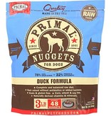 Primal Frozen Raw Dog Duck Nuggets 3 Lb