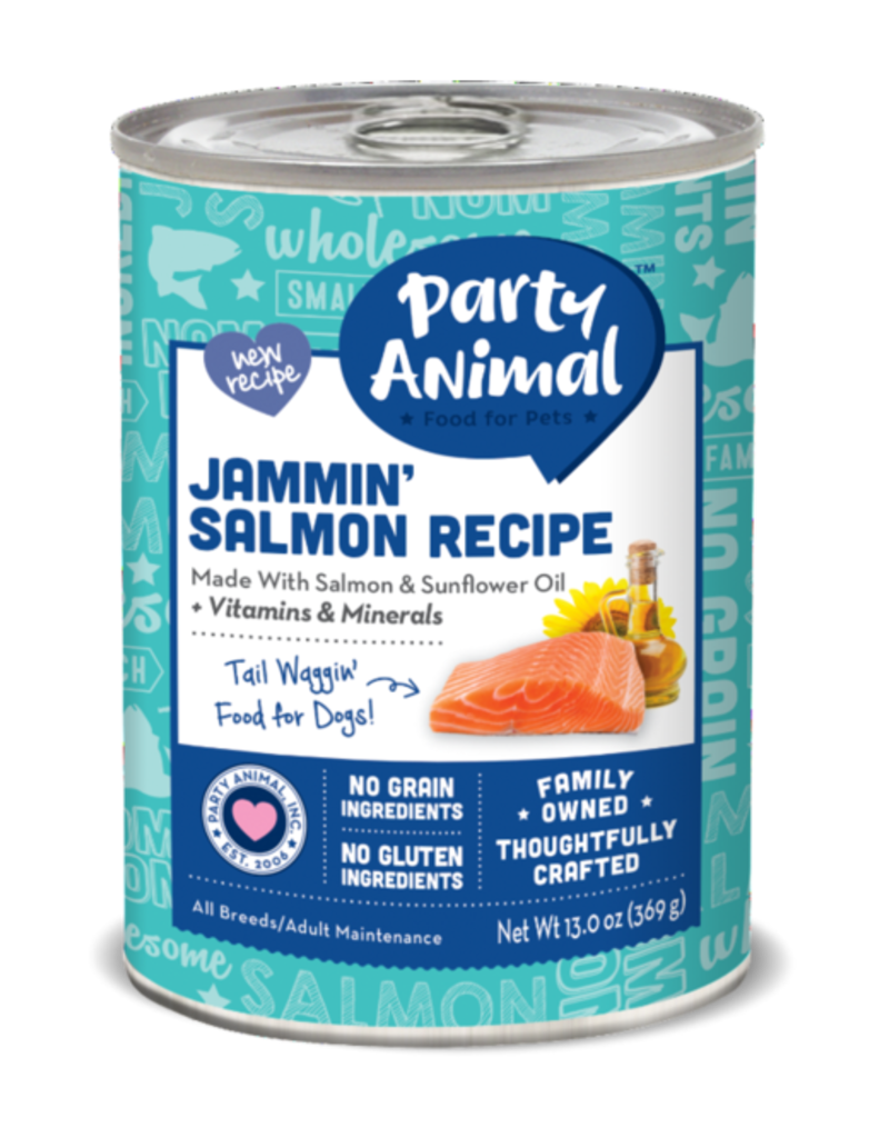 Party Animal Canned Dog Jammin' Salmon 13 OZ