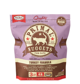 Primal Raw Frozen Cat Turkey Nuggets 3 lb
