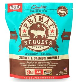 Primal Frozen Raw Cat Chicken/Salmon Nuggets 3 Lb