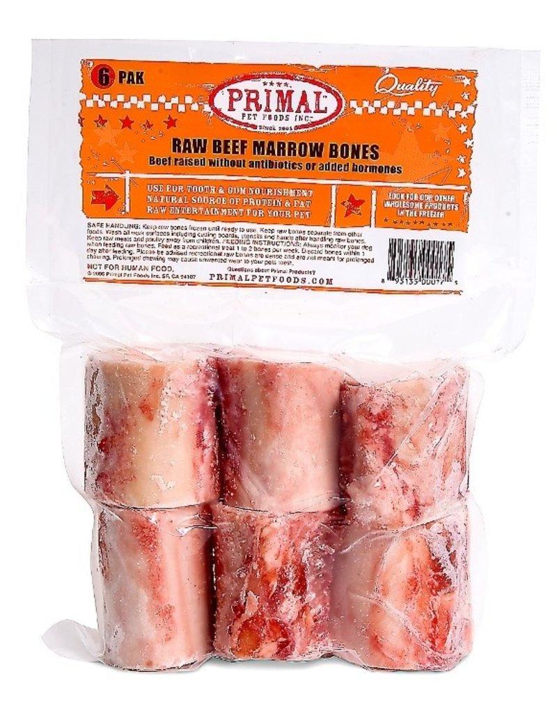 "Primal Frozen Raw Beef Bone Marrow 2"" 6pk"