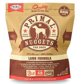 Primal Frozen Raw Dog Lamb Nuggets 3 Lb