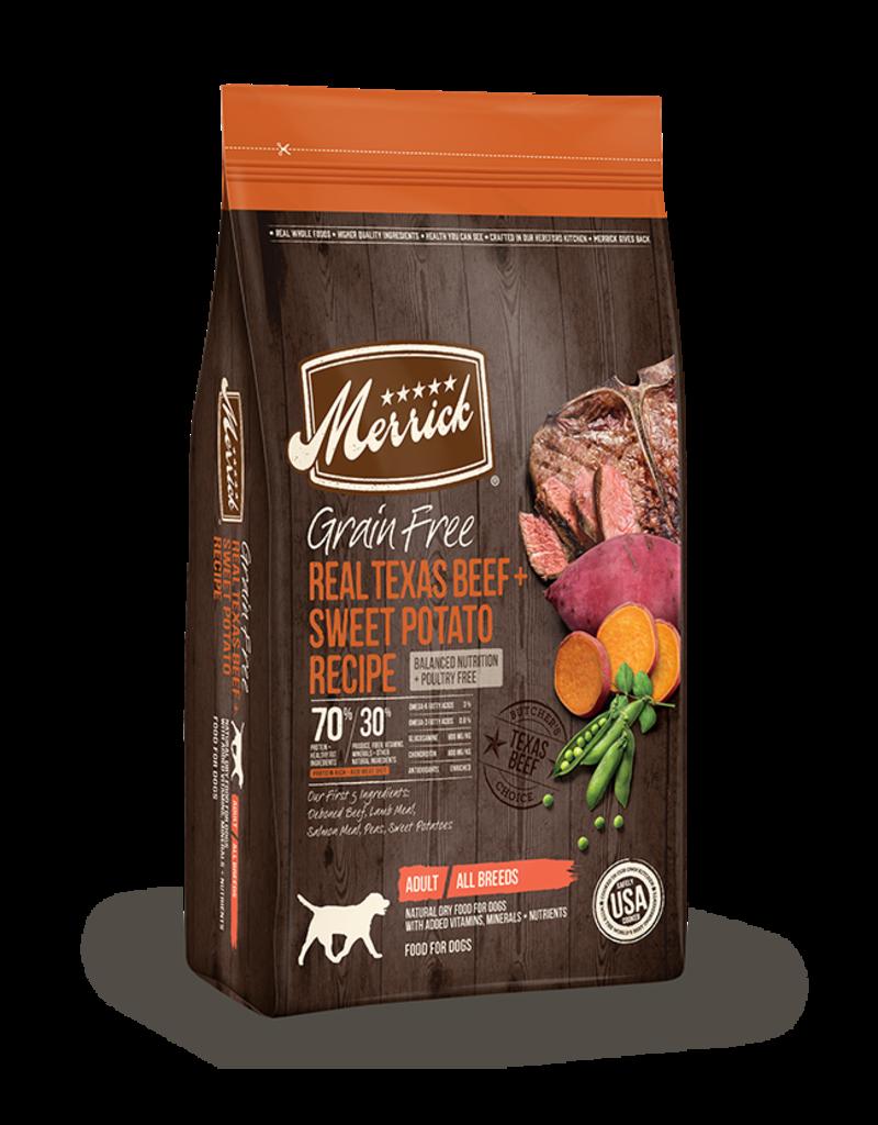 Merrick Dry Dog Grain Free Texas Beef 10 LB