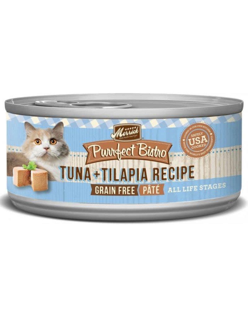 Merrick Canned Cat Tuna + Tilapia Pate 5.5 Oz.
