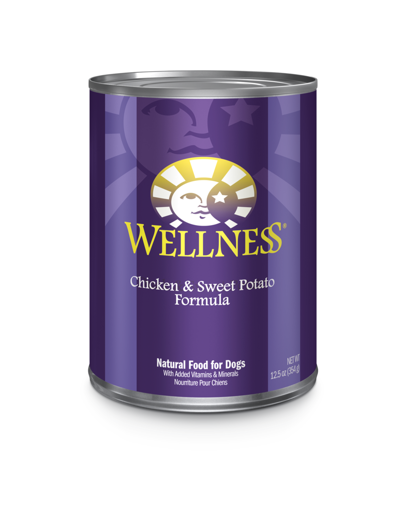 Wellness Canned Dog Chicken & Sweet Potato 12.5 Oz