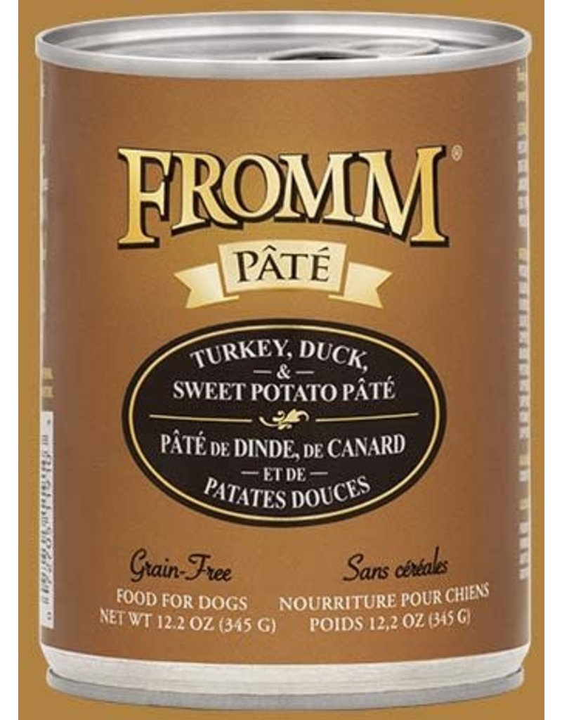 Fromm Canned Dog Pate Turkey, Duck & Sweet Potato 12.2 OZ