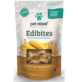 Pet Releaf Pet Releaf Edibites Peanut Butter Banana Large Breed 7.5 Oz