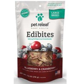 Pet Releaf Pet Releaf Edibites Blueberry Cranberry Large Breed 7.5 Oz