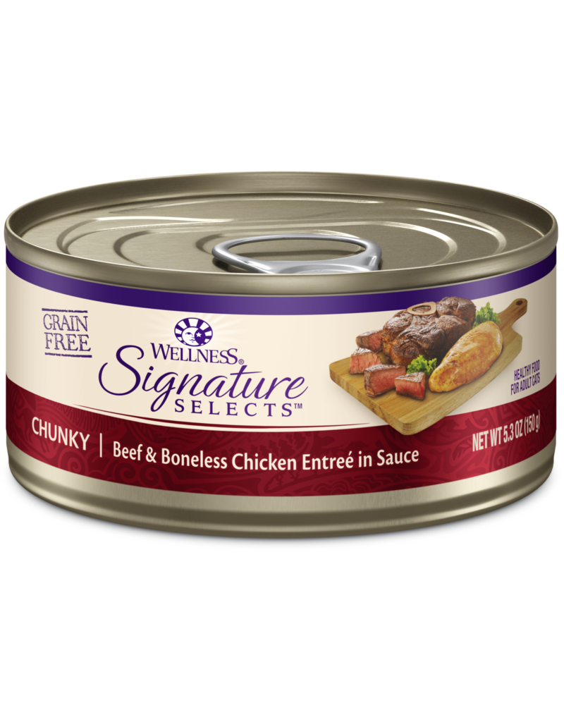 Wellness Canned Cat Signature Selects Chicken W/ Beef Chunky 5.3 oz