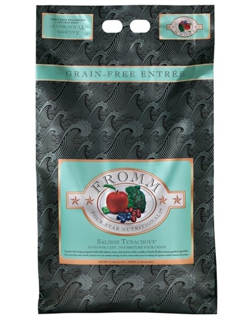 Fromm Family Pet Food FROMM FOUR STAR DRY CAT SALMON TUNACHOVY 15 LB