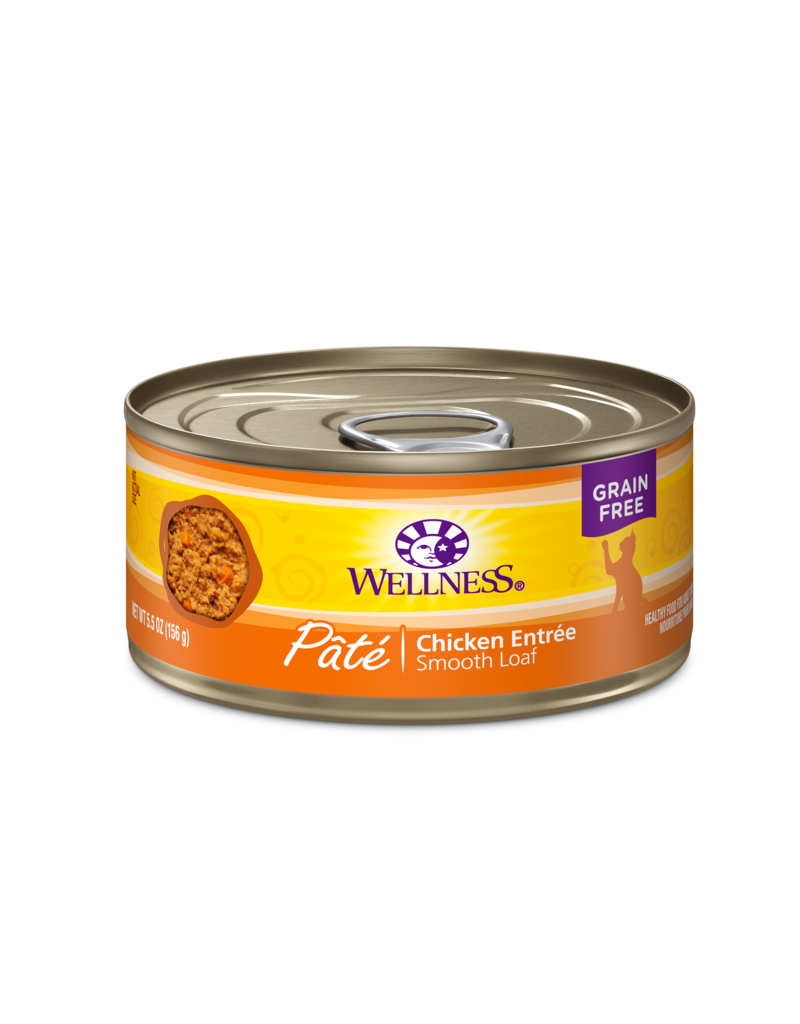 Wellness Canned Cat Chicken Pate 5.5 oz