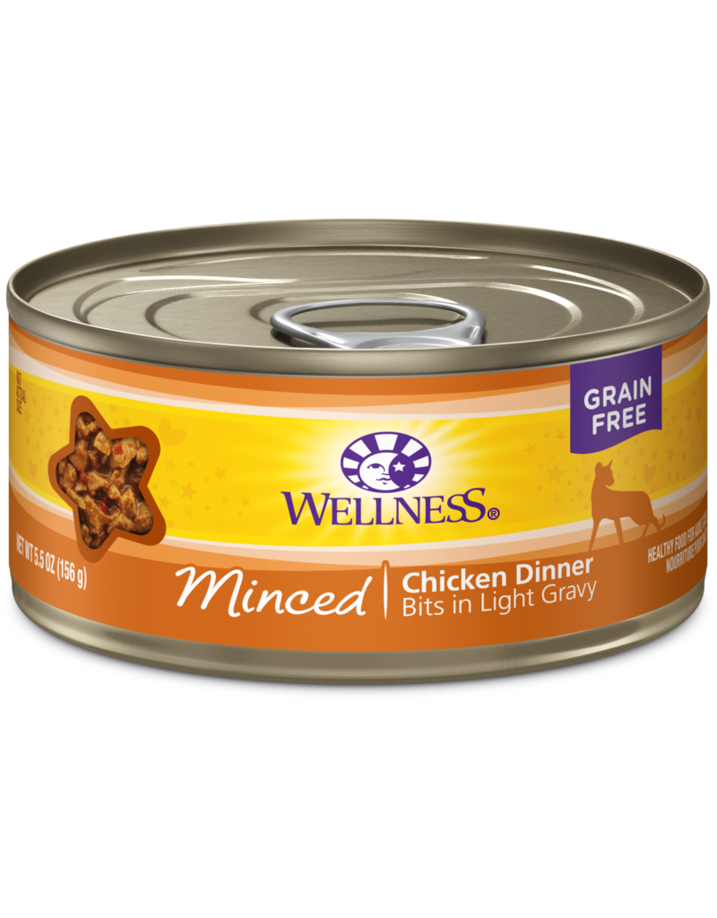 Wellness Canned Cat Minced Chicken 5.5 Oz