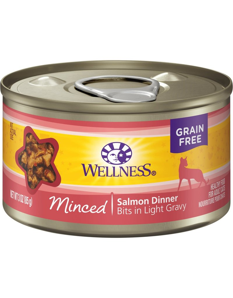 Wellness Canned Cat Minced Salmon 3 oz